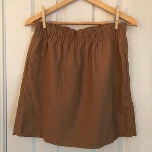 JCrew Khaki Skater Skirt